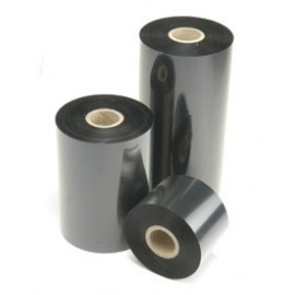 40mm x 450m Ribbon RESINA TEXTIL color NEGRO. Caja con 10 rollos
