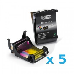 800011-140 PACK de 5 Ribbon color YMCKO para ZXP Series 1