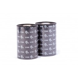 02300BK08330 83mm x 300m Ribbon CERA ZEBRA 2300 WAX. OUT. Core 25mm, 1 Pulgada. CAJA con 12 rollos