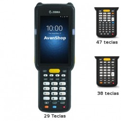 "MC330M-SL3HA2RW Zebra MC3300, Android, 2GB, Color WVGA 4"", IP54, WiFi, BT, Lector SE965 1D Laser"