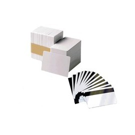 104523-113 Card, PVC PREMIER, Color BLANCO, Grosor 0,76mm. BANDA MAGNETICA HIGH COERCIVITY. 1 Caja de 500